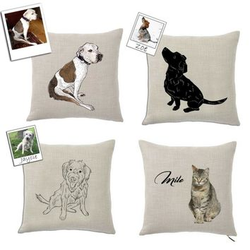 "The Ultimate ""Mix & Match"" Custom Pet Themed Throw Pillow Gift Pack Bundle"