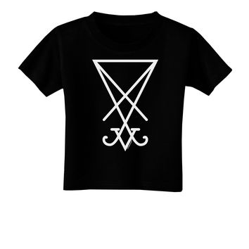 Sigil of Lucifer - Seal of Satan Toddler T-Shirt Dark