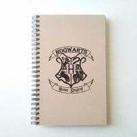 Hogwarts Honor Student, crest shield, 5X8 Journal, spiral notebook, diary, sketchbook, brown kraft notebook, white journal, gift for writers