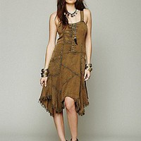 Free People  Tencel Washed Apron Dress at Free People Clothing Boutique