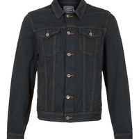 GREY DENIM JACKET - Men's Jackets & Coats - Clothing - TOPMAN USA