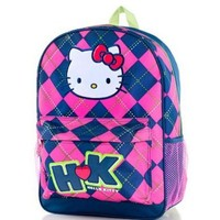 FAB Starpoint Backpack - Hello Kitty Argyle