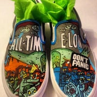 Custom Hand Painted All Time Low Slip Ons NOT by InsidiousApparel