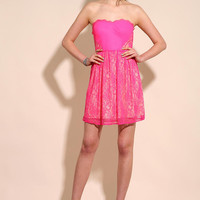 Silence & Noise Electric Lace Dress