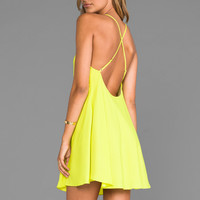 Naven Babydoll Dress in Chartreuse