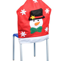 Red Snowman Chair Cover