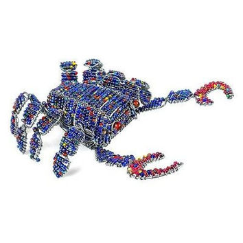 Handmade Handcrafted Beaded Blue Crab