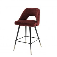 Red Velvet Counter Stool | Eichholtz Avorio