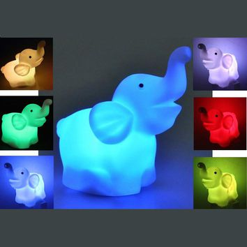 Color Changing LED Elephant Shape Night Light by Baby in Motion