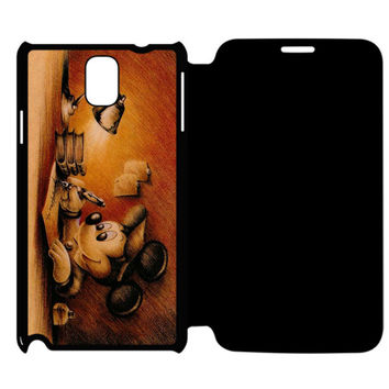 Vintage Classic Mickey Mouse Samsung Galaxy Note 4 Flip Case Cover
