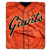 San Francisco Giants MLB Royal Plush Raschel Blanket (Jersey Series) (50in x 60in)