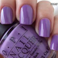 OPI Nail Polish (NL B87-A Grape Fit) NEW BRIGHT PURPLE COLOR