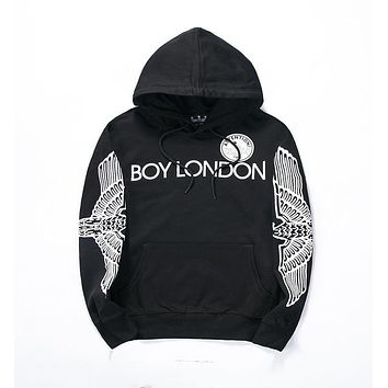Men's Boy London Black White Hoodie Fashion Hooded Sweatshirt