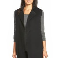 Women's Eileen Fisher Long Felted Wool Blend Vest,