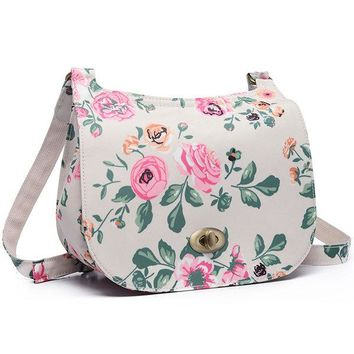 Women Floral Print Casual Vintage Crossbody Bag Cover Bags