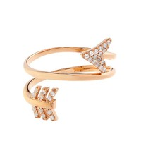 Topaz and rose-gold plated arrow twist ring | Aamaya by Priyanka | MATCHESFASHION.COM US