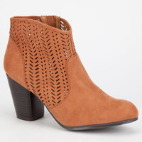 Qupid Sake Womens Booties Rust  In Sizes