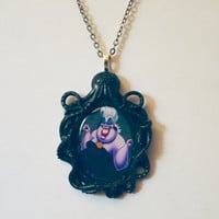 ursula necklace evil witch necklace little mermaid sea witch seawitch ursula jewelry evil witch jewelry little mermaid necklace disney