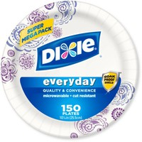 "Dixie Everyday Paper Plates, 10.0625"", 150 count - Walmart.com"