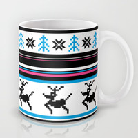 Retro Christmas Stripe Mug by markmurphycreative
