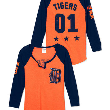 Detroit Tigers Split-Neck Baseball Tee - PINK - Victoria's Secret