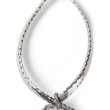 Whiting And Davis Vintage glam disco mesh necklace
