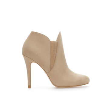 ELASTIC ANKLE BOOT WITH HEEL - Shoes - Woman   ZARA United States