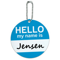 Jensen Hello My Name Is Round ID Card Luggage Tag