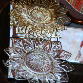 Radial Star-burst Pattern Vintage Saucers