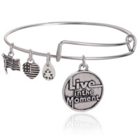 Alex and Ani letter pendant charm bracelet,a perfect gift !