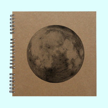 Full Moon - Book, Large Journal, Personalized Book, Personalized Journal, , Sketchbook, Scrapbook, Smashbook