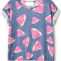 Distress Watermelon Tee