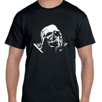 Star Wars The Force Awakens Darth Vader Broken Helmet  Mens T Shirt