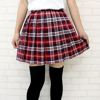 ■ 56% off!! Great deals! instant ■ ■ delivery! Bargain! ■ check pattern pleated skirt car color: red x white size: m and BIG ■ Teens Ever ■-uniform Blazer--what hairstyle uniform-