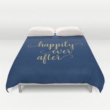 Wedding Gifts For Couple, Wedding Sayings, Navy Bedding Queen, Happily Ever After, Gold Bedroom Decor, Blue Duvet Cover King, Romantic