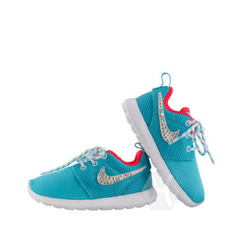 Girls' Nike Roshe Run Casual Shoes with Swarovski crystal detail