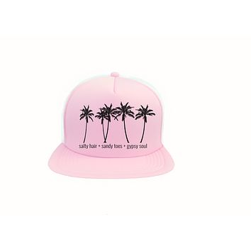 Salty Hair Sandy Toes Gypsy Soul Trucker Hat