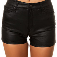 The High Waist Faux Leather Short