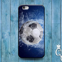 iPhone 4 4s 5 5s 5c 6 6s plus + iPod Touch 4th 5th 6th Generation Water Splash Wet Soccer Ball Cool Phone Cover Cute Futbol Sport Fun Case