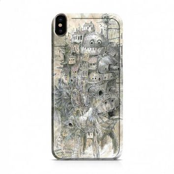 howls moving castle artwork iPhone X case