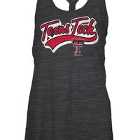 Texas Tech Red Raiders Womens Tank Top - Black Texas Tech Cinch Sleeveless Shirt