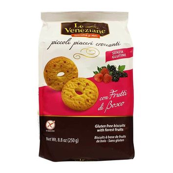 Gluten Free Corn Biscuits with Fruit from Italy, 8.8 oz (250 g)