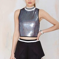 Nasty Gal Slither Sequin Top