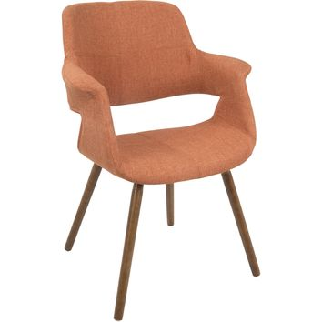 Vintage Flair Mid-Century Modern Dining / Accent Chair, Orange