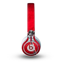 The Grungy Red Scale Texture Skin for the Beats by Dre Mixr Headphones