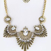 Bronze Goddess Statement Necklace and Earnings