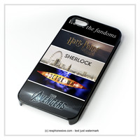 Fandoms Harry Potter Sherlock Doctor Who Avengers iPhone 4 4S 5 5S 5C 6 6 Plus , iPod 4 5 , Samsung Galaxy S3 S4 S5 Note 3 Note 4 , HTC One X M7 M8 Case