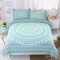 Green black blue purple Bohemia Twin full queen king 3pcs Bedding Set Bedclothes Duvet Cover Pillowcase Bed Linen Home Textiles
