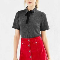 BDG Button-Front Corduroy Mini Skirt