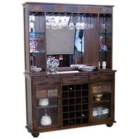 Santa Fe Traditional Back Bar and Server by Sunny Designs at Suburban Furniture